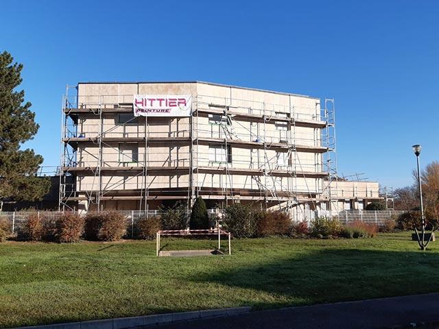 Rénovation de façade à la MMA de Strasbourg par hittier Peinture